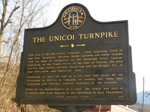 UNICOI TURNPIKE HISTORICAL MARKER PHOTO NR. HELEN GA.