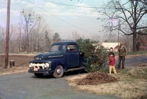 PHOTO OF  GRANDPAS  1952 FORD TRUCK