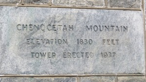 Chenocetah Tower historic marker