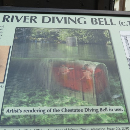 Artist's rendering of the Chestatee Diving Bell in use