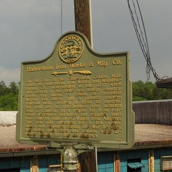 Habersham Iron Works Historic Marker
